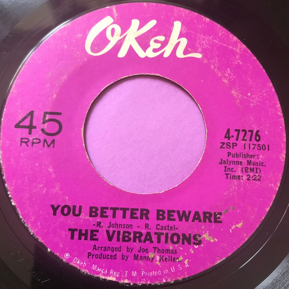 Vibrations-You better be aware-Okeh E+