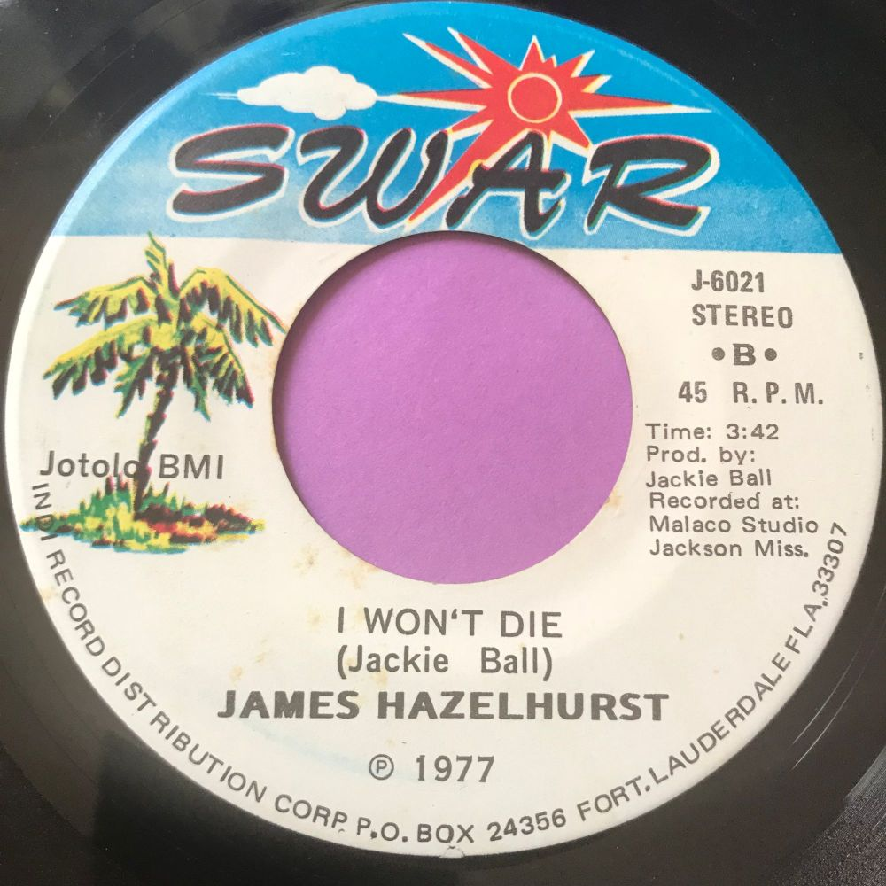 James Hazelhurst-I won't die-SWAR E+