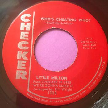 Little Milton-Who's cheating who-Checker E