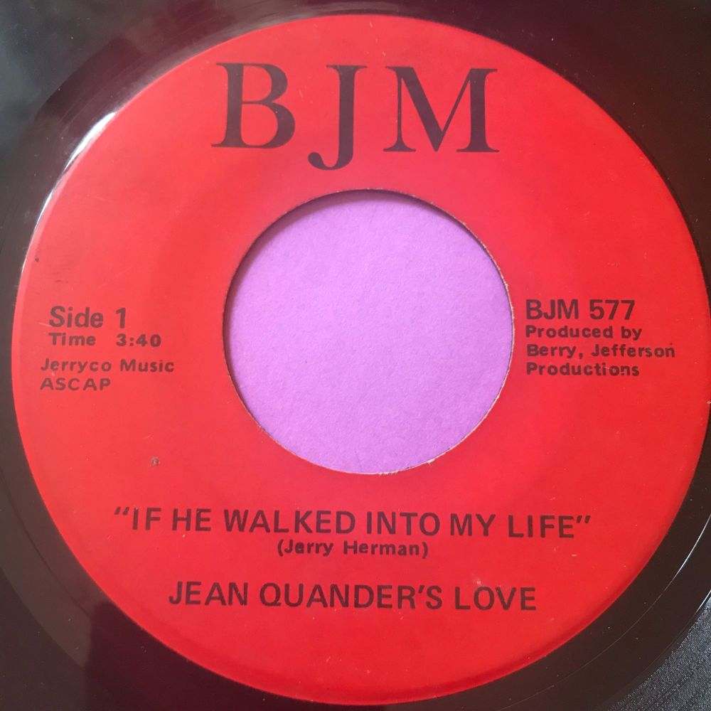 Jean Quander's love-If he walked into my life-BJM E