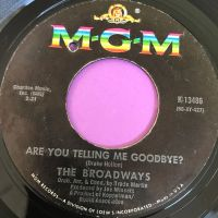 Broadways-Are you telling me goodbye-MGM E