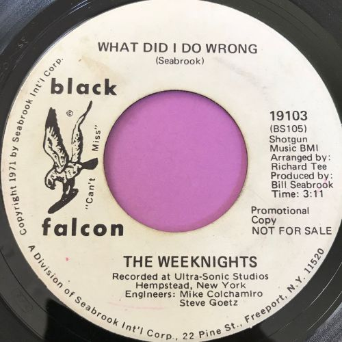 Weeknights-What did I do wrong-Black Falcon WD E