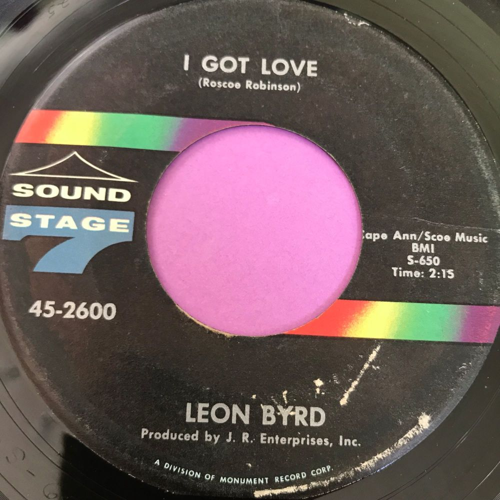 Leon Byrd-I got love-Sound stage 7 E