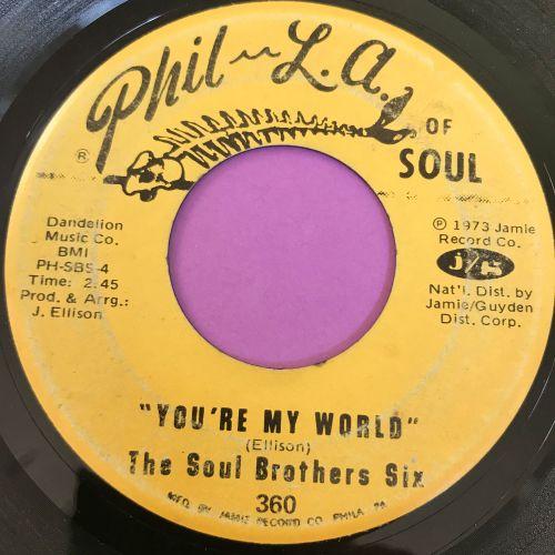 Soul Brothers Six-You're my world-Phila of soul vg+