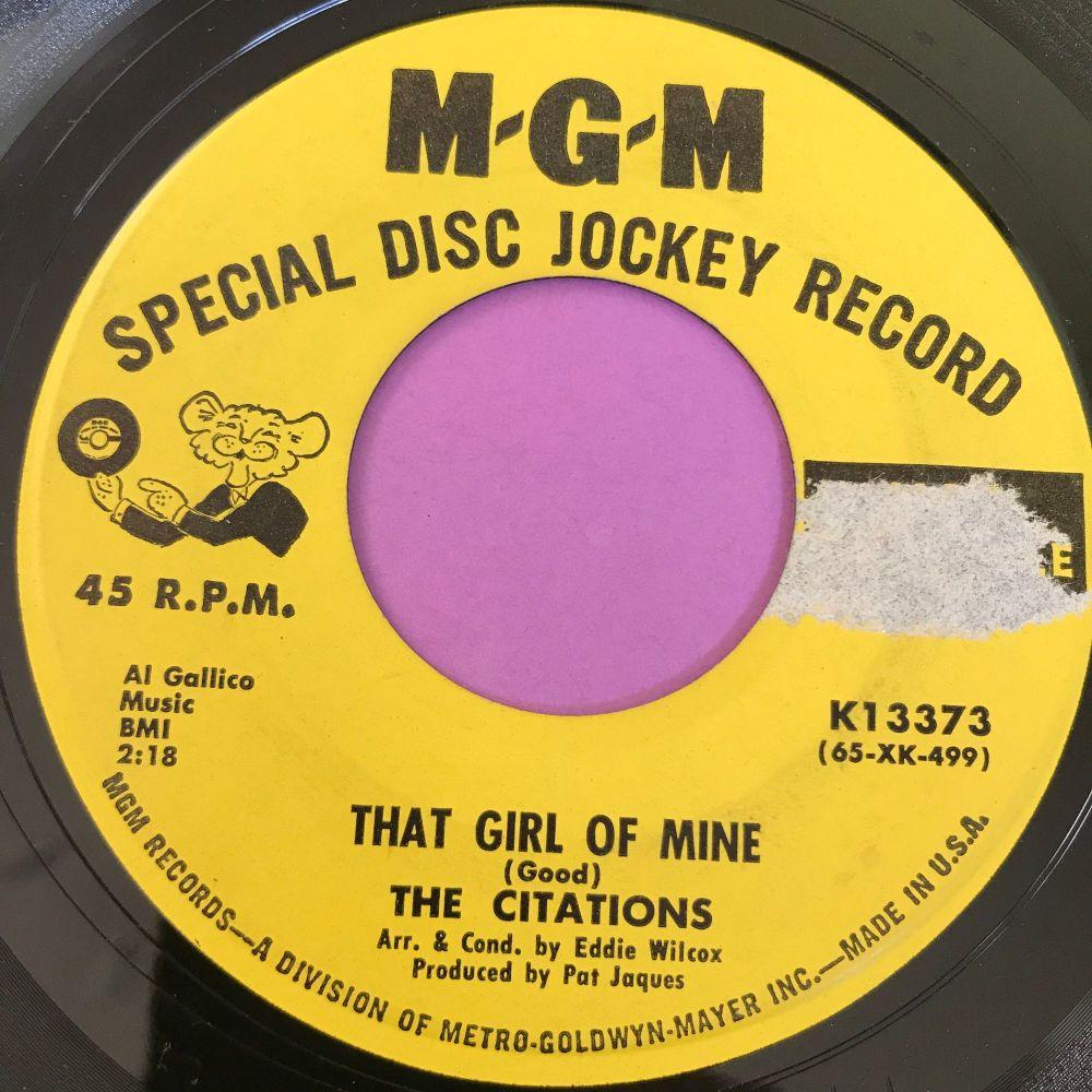 Citatations-That girl of mine-MGM Demo LT  E