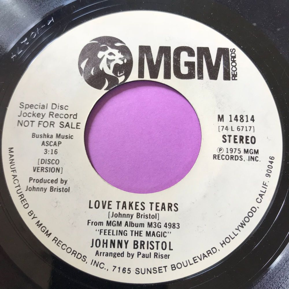 Johnny Bristol-Love takes tears-MGM WD E+