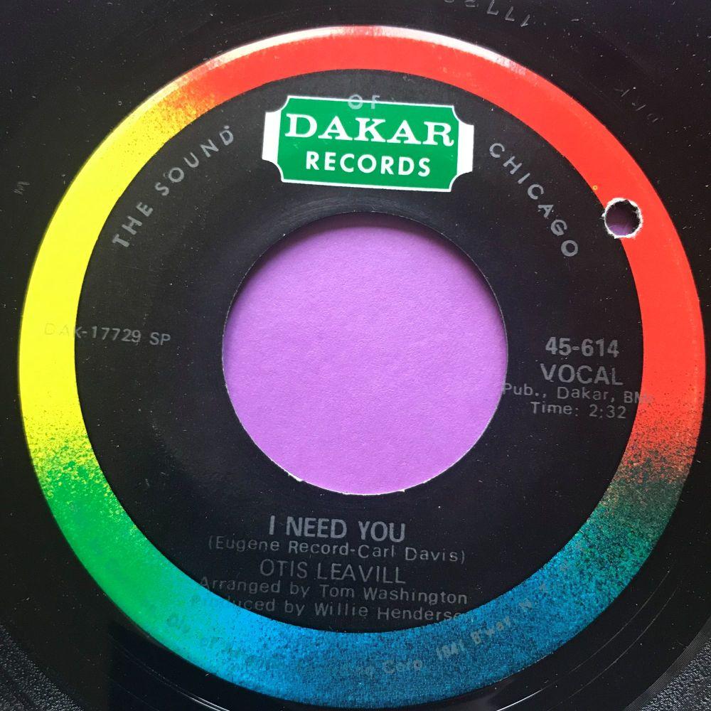 Otis Leavill-I need you/ I love you-Dakar E+