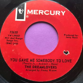 Dreamlovers-You gave me someone to love-Mercury E+