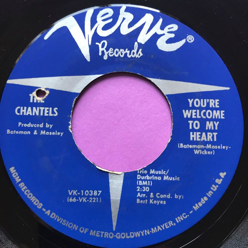 Chantels-You're welcome to my heart-Verve E+