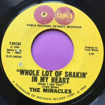 Miracles-Whole lot of shakin' in my heart-Tamla E+