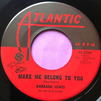 Barbara Lewis-Make me belong to you- Atlantic wol E
