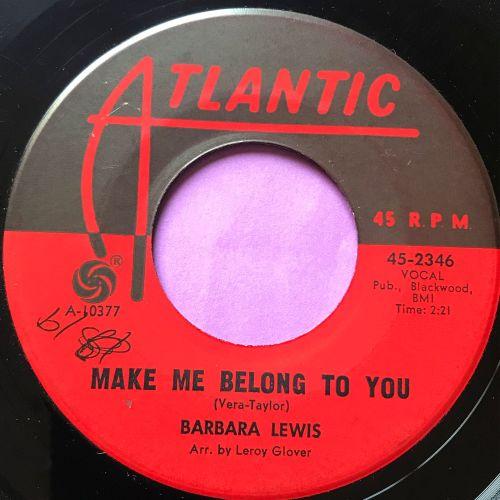 Barbara Lewis-Make me belong to you- Atlantic wol E