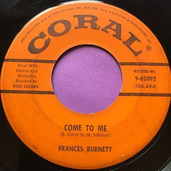 Frances Burnett-Come to me-Coral E