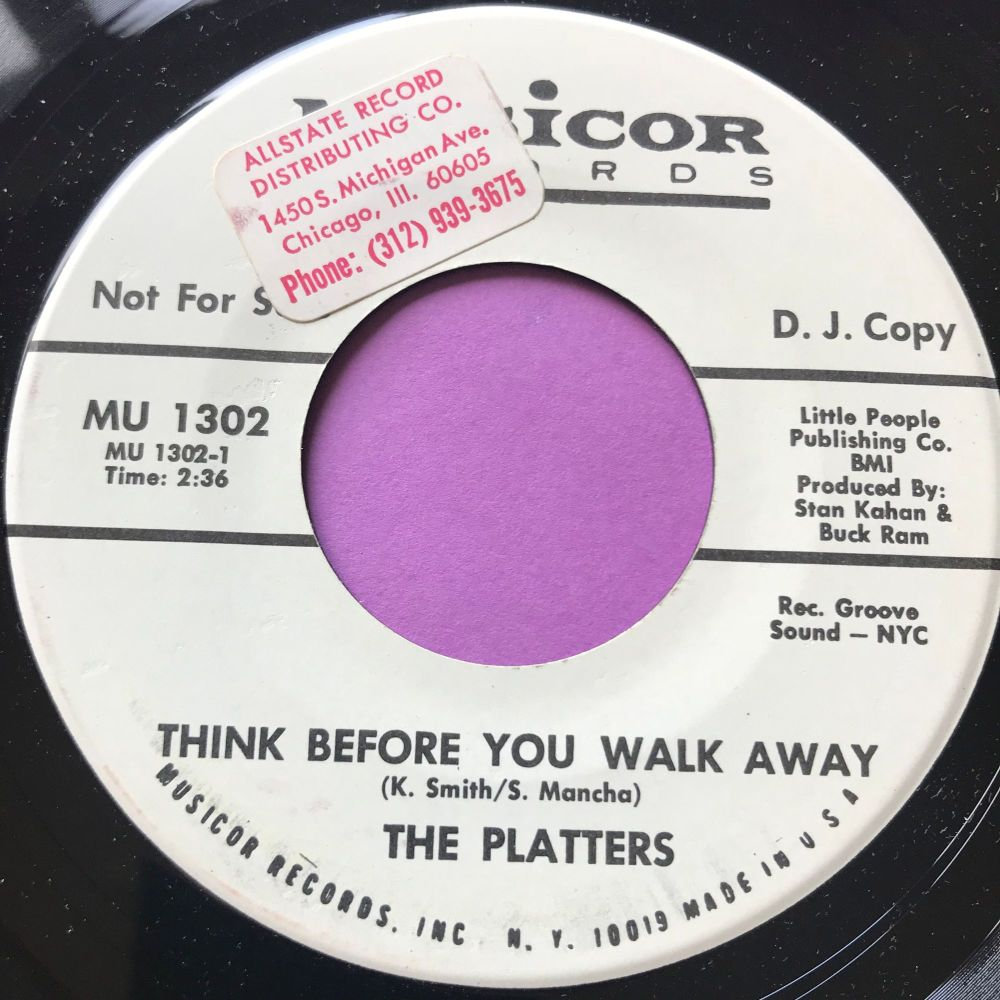 Platters-Think before you walk away-Musicor WD stkr M-