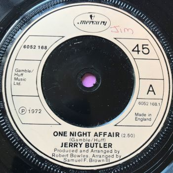 Jerry Butler-One night affair-UK Mercury wol E+