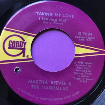 Martha Reeves-Taking my love and leaving me/Heartless-Gordy E+