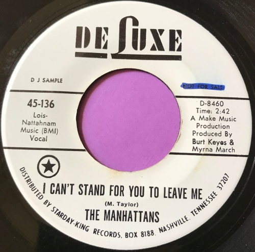 Manhattans-I can't stand for you to leave me-DeLuxe WD wol E+