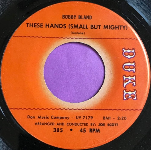 Bobby Bland-These hands (Small but mighty)-Duke E+