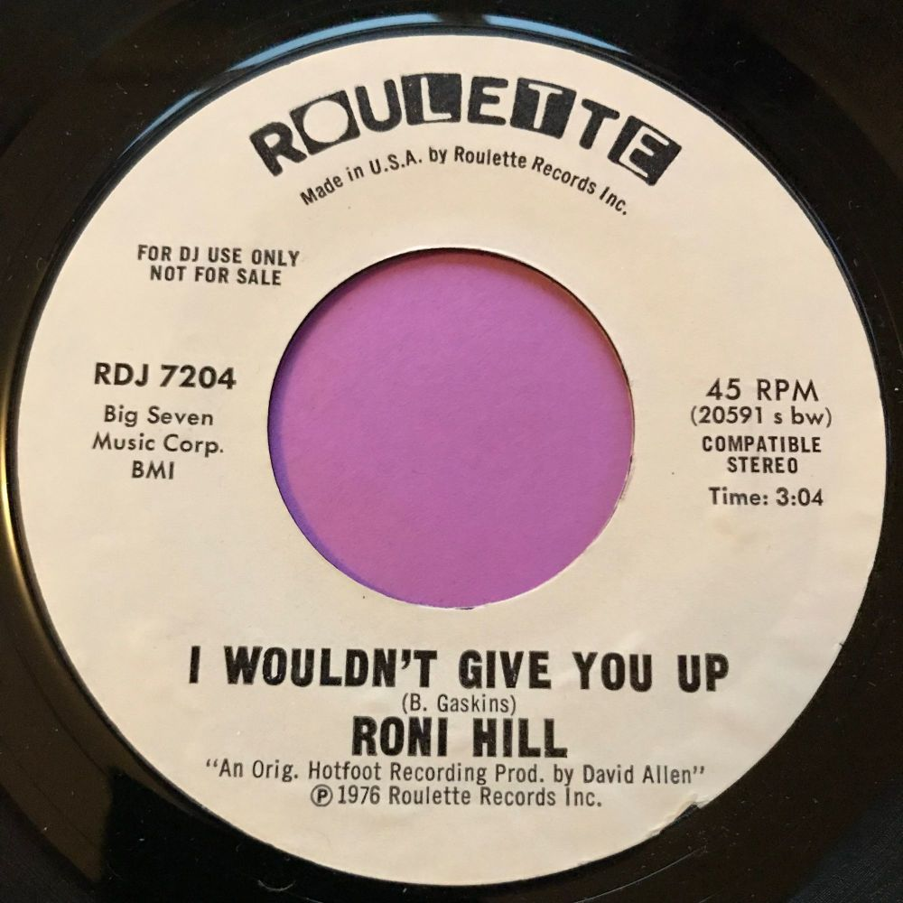 Roni Hill-I wouldn't give you up-Roulette WD E+