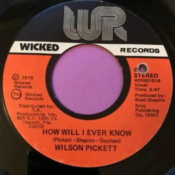 Wilson Pickett-How will I ever know-Wicked E+
