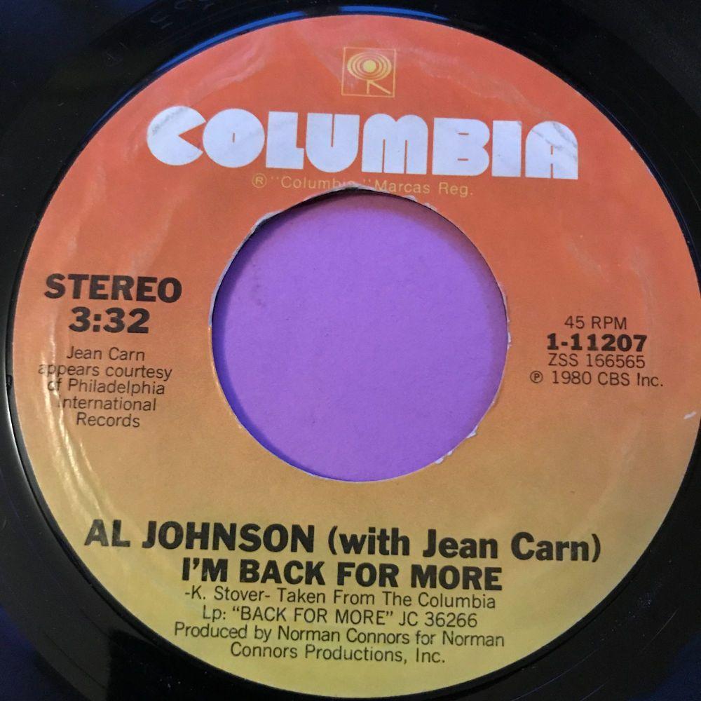Al Johnson-I'm back for more-Columbia E+