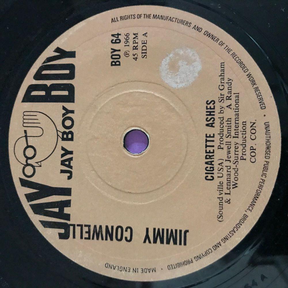 Jimmy Conwell-Cigarette ashes-UK Jayboy Stkr E+