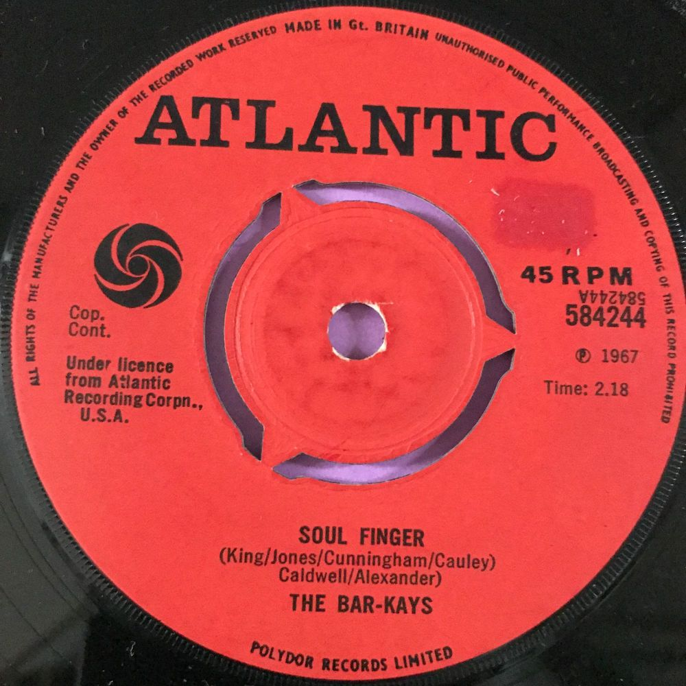 Bar-Kays-Soul finger-UK Atlantic E+