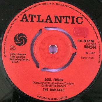 Bar-Kays-Soul finger-UK Atlantic E+