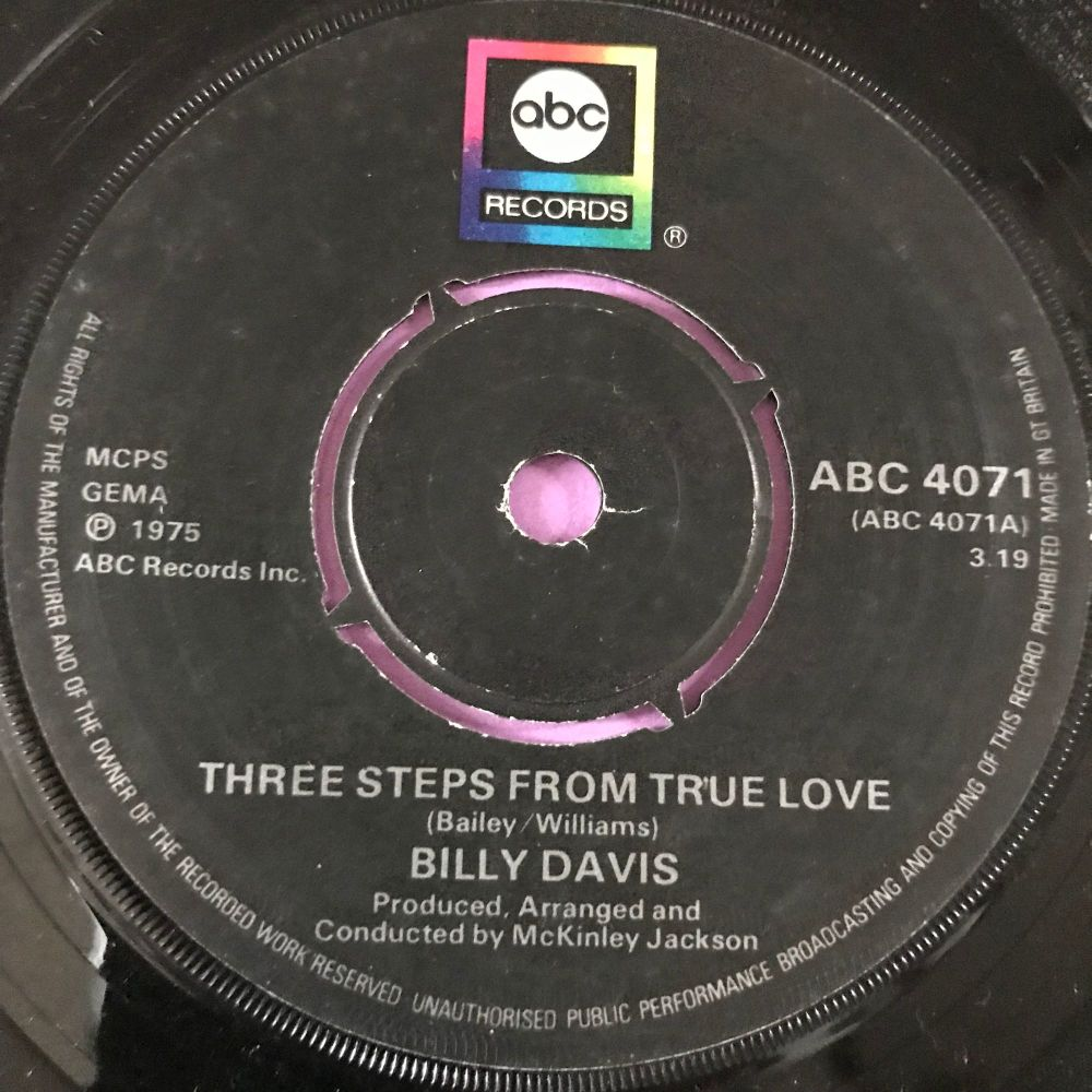 Billy Davis-Three steps from true love-UK ABC E+