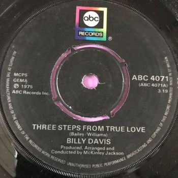 Billy Davis-Three steps from true love-UK ABC E+