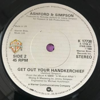 Ashford and Simpson-Get out your handkerchief-UK WB E+