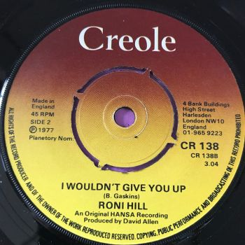 Roni Hill-I wouldn't give you up-UK Creole E+