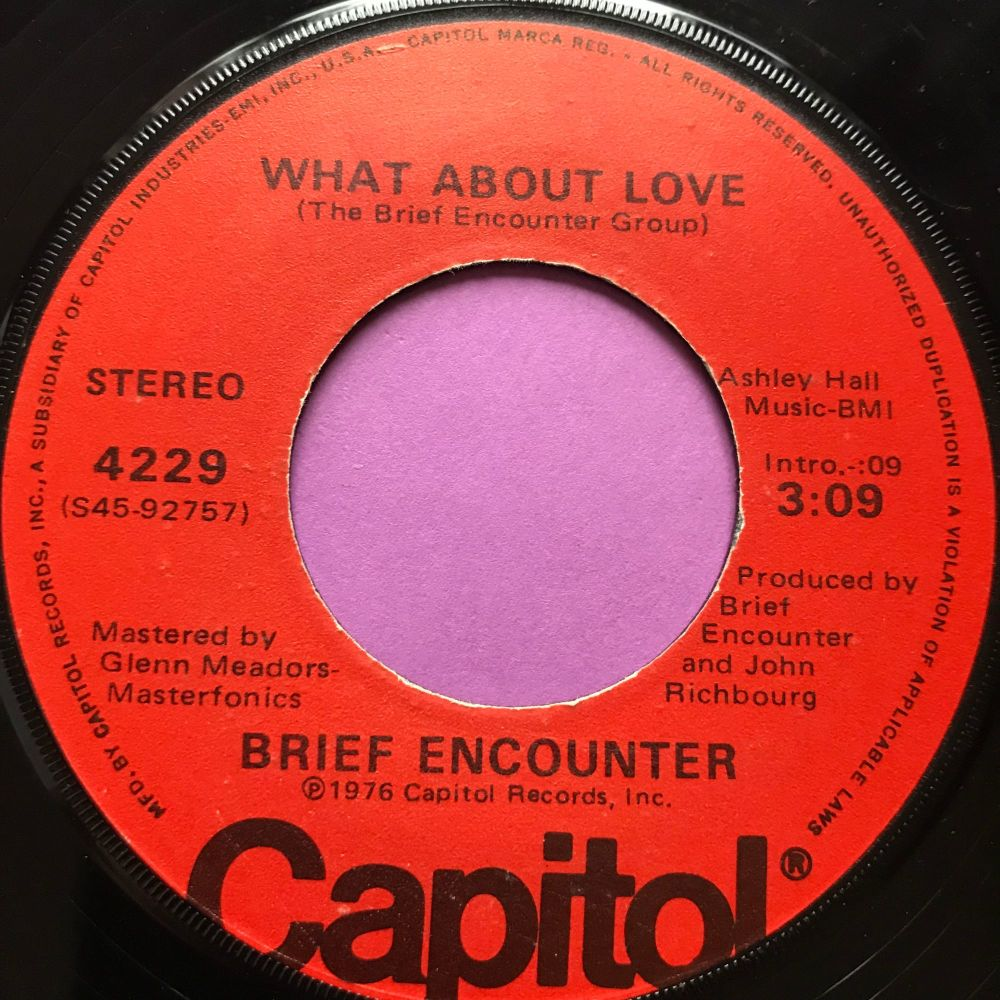 Brief Encounter-What about love-Capitol E+