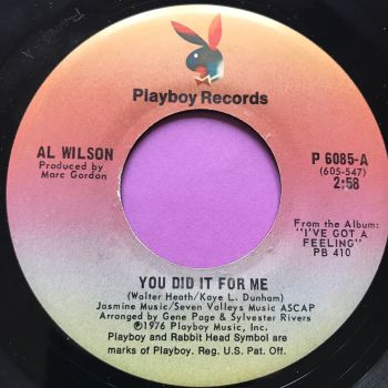 Al Wilson-You did it for me-Playboy E+
