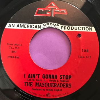 Masqueraders-I ain't gonna stop/ I'm just an average guy-GWP E+
