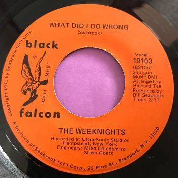 Weeknights-What did I do wrong-Black Falcon E