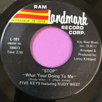 Five Keys feat. Rudy West-Stop what you're doing to me-Landmark E+