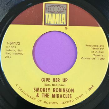 Miracles-Special occasion/Give her up-Tamla E+