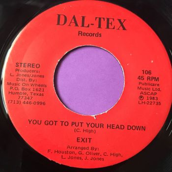 Exit-You got to put your head down/The little green monster-Dal-tex E+