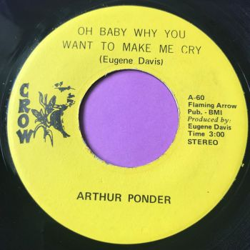 Arthur Ponder-Oh baby why you want to make me cry-Crow E+