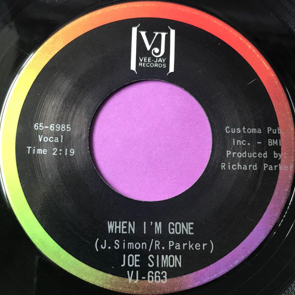 Joe Simon-When I'm gone-VJ E+