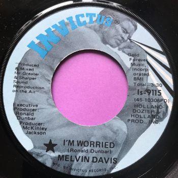 Melvin Davis-I'm worried-Invictus E+