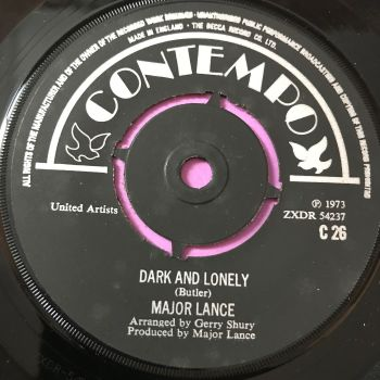 Major Lance-dark and Lonely/ My girl-UK Contempo E+