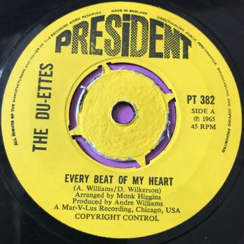 Du-Ettes-Every beat of my heart-UK President E+