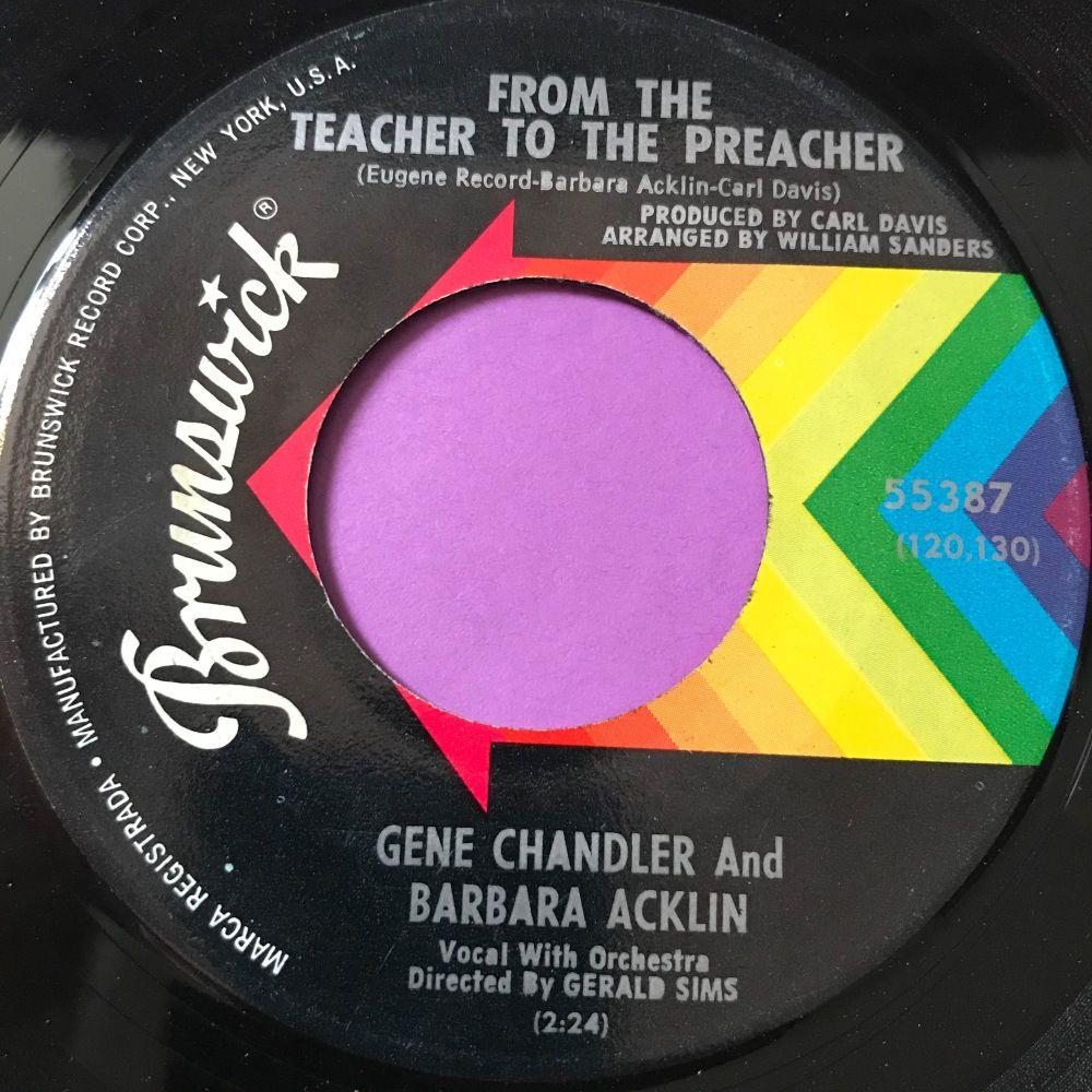 Gene Chandler/Barbara Acklin-From the teacher to the preacher-Brunswick E+