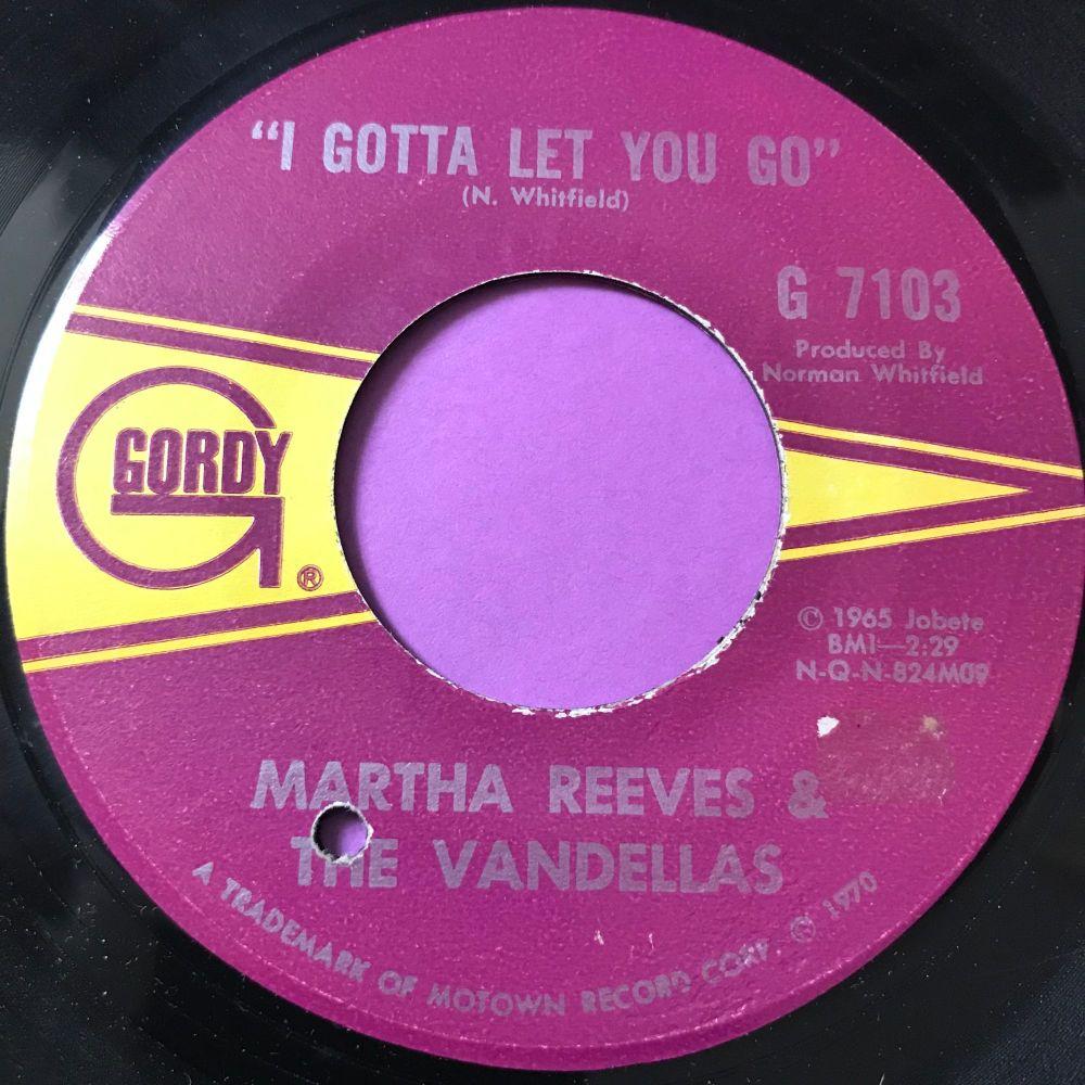 Martha Reeves-I gotta let you go-Gordy E