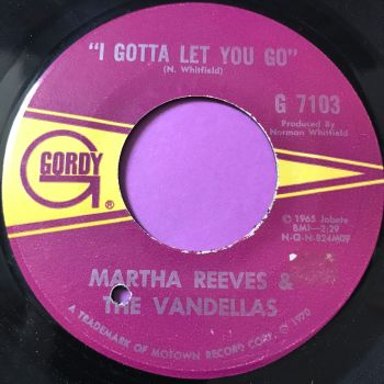 Martha Reeves-I gotta let you go-Gordy E