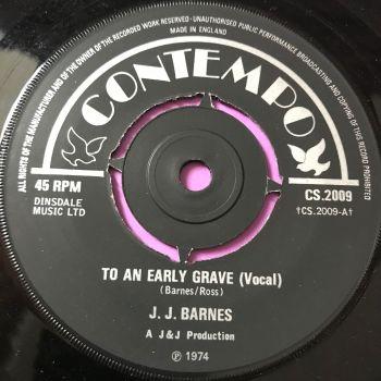 J.J Barnes-To an early grave-UK Contempo E+