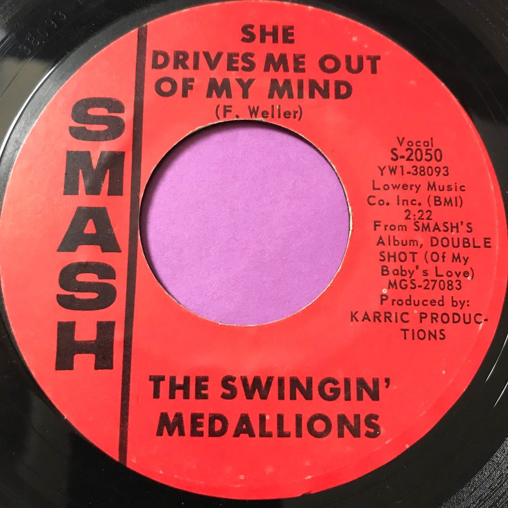 Swinging Medallions-She drives me out of my mind-Smash E+