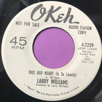 Larry Williams-This old heart-Okeh WD E+